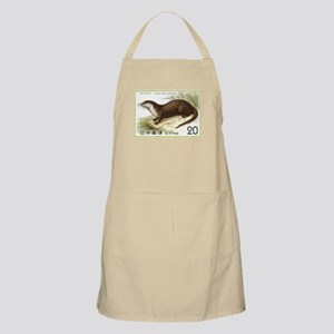 1974 Japan River Otter Postage Stamp Apron